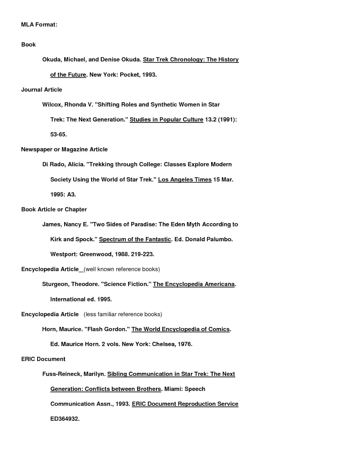 Mla Format Book Of Essays