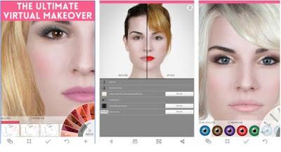 Aplikasi Foto Editor Ponsel Untuk Make Up Wajah