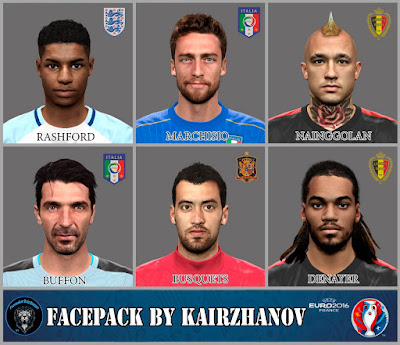 EURO2016 Face Pack