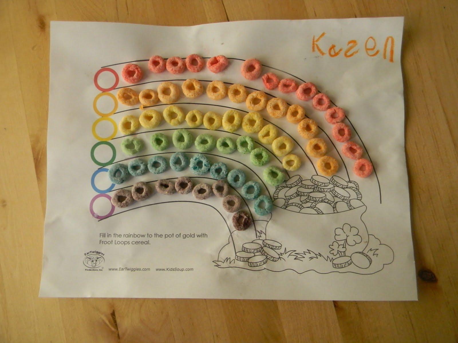 Simply Crafty Fruit Loop Rainbows