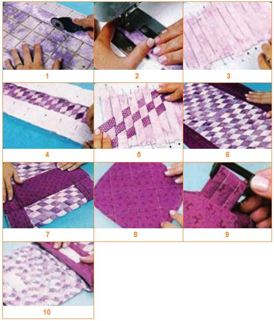 Langkah-langkah dalam pembuatan tas kerajinan tekstil 1-10