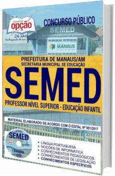 Apostila concurso SEMED Manaus 2018 - Professor de Educação Infantil
