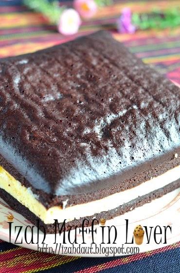 izah muffin lover kek lapis kukus cream cheese Resepi Kek Keju Pic Enak dan Mudah