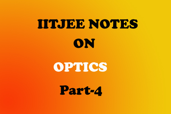 optics notes class 12