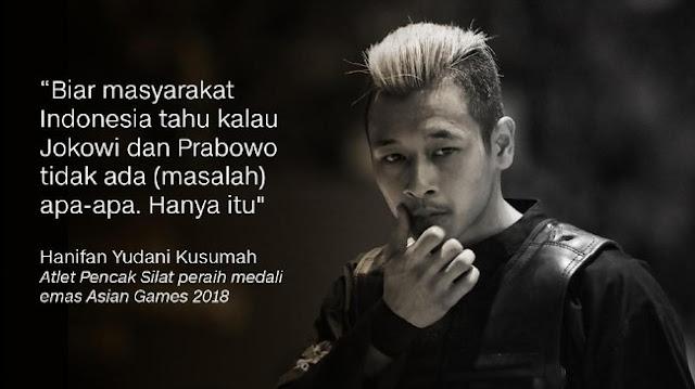 Hanifan Yudani Kusumah soal Pelukan Jokowi-Prabowo