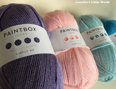 Paintbox yarns in different colours