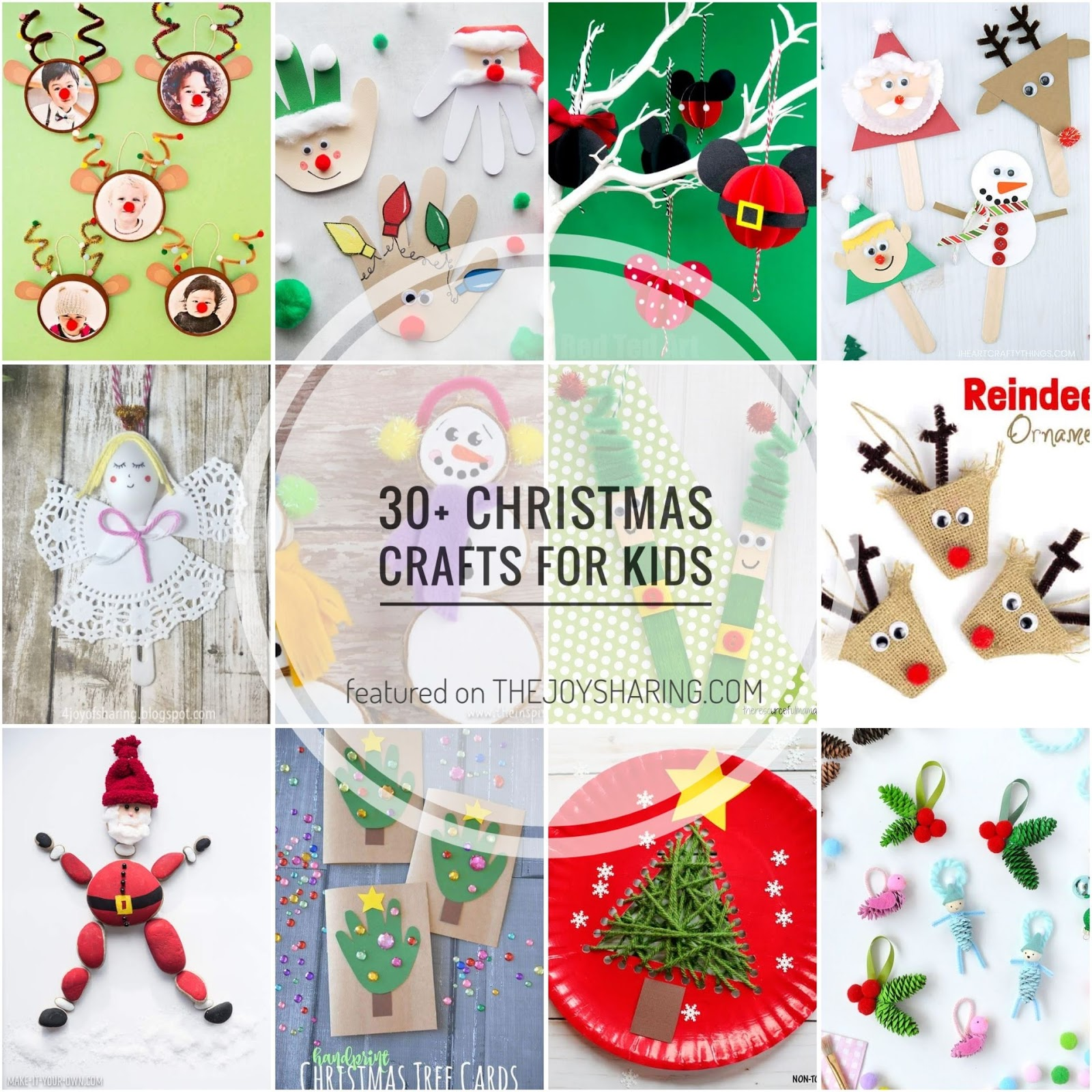 30+ easy christmas crafts for kids - the joy of sharing