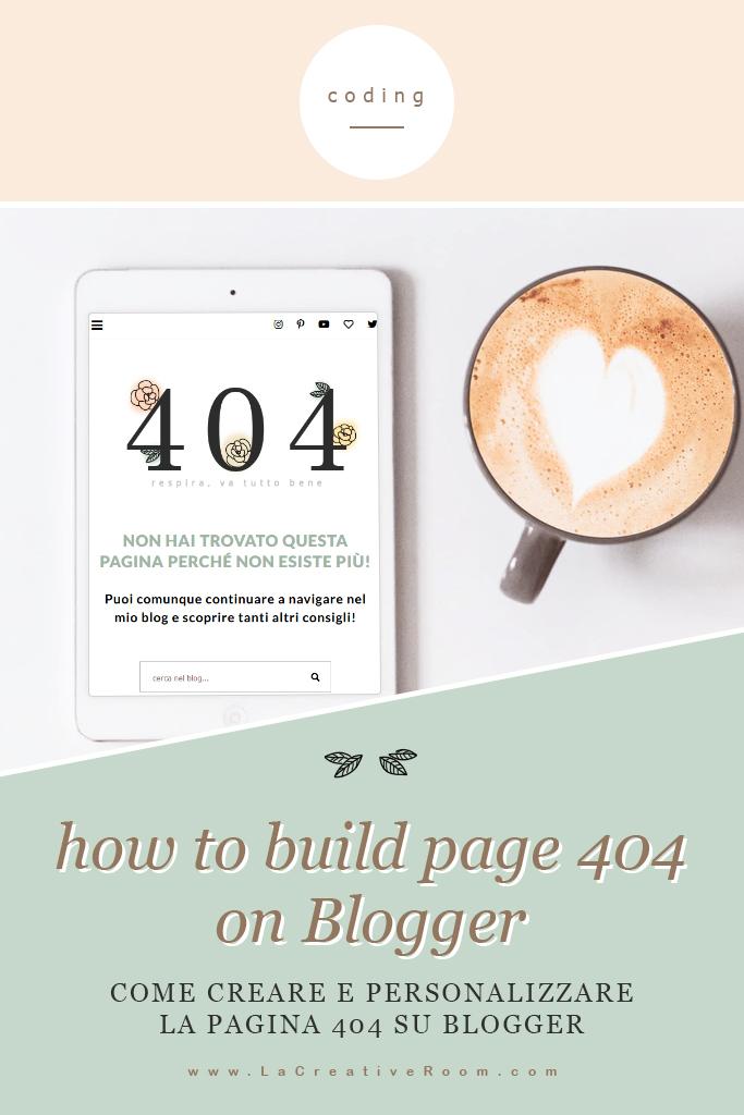 crea una pagina 404 professionale e carina su Blogger blogspot