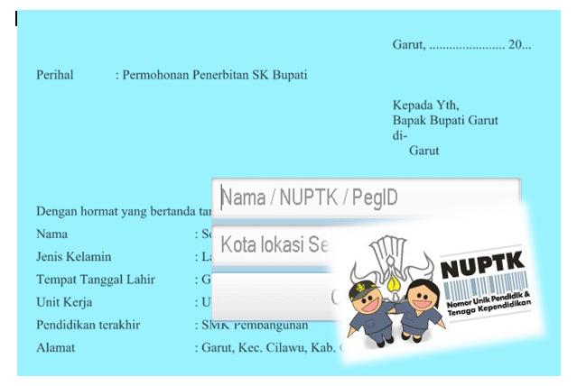 Contoh SK Bupati Untuk NUPTK yang Benar | Akses GURU
