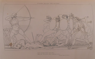 John Flaxman's image of Odysseus slaying the suitors