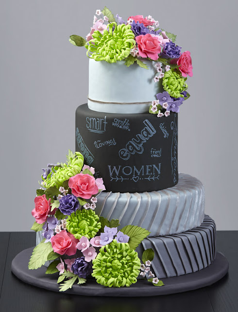 bolo quadro negro chalkboard cake