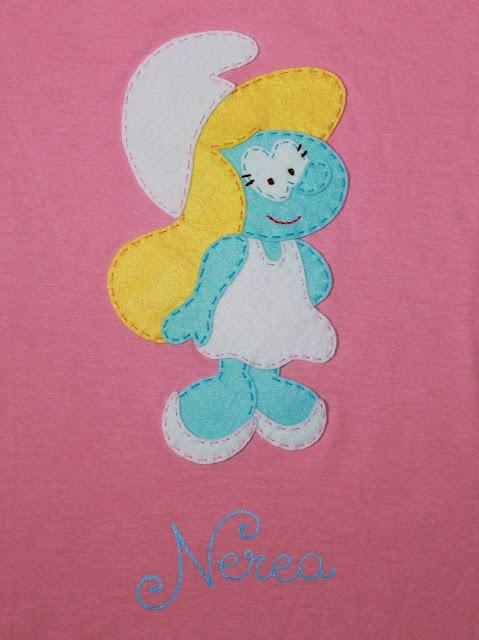 camiseta pitufina personalizada