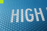 Logo: High Pulse Balance Pad – Die gelenkschonende Koordinationsmatte zum Training von Gleichgewicht und Stabilität sowie zur Therapie nach Muskelverletzungen (Blau)