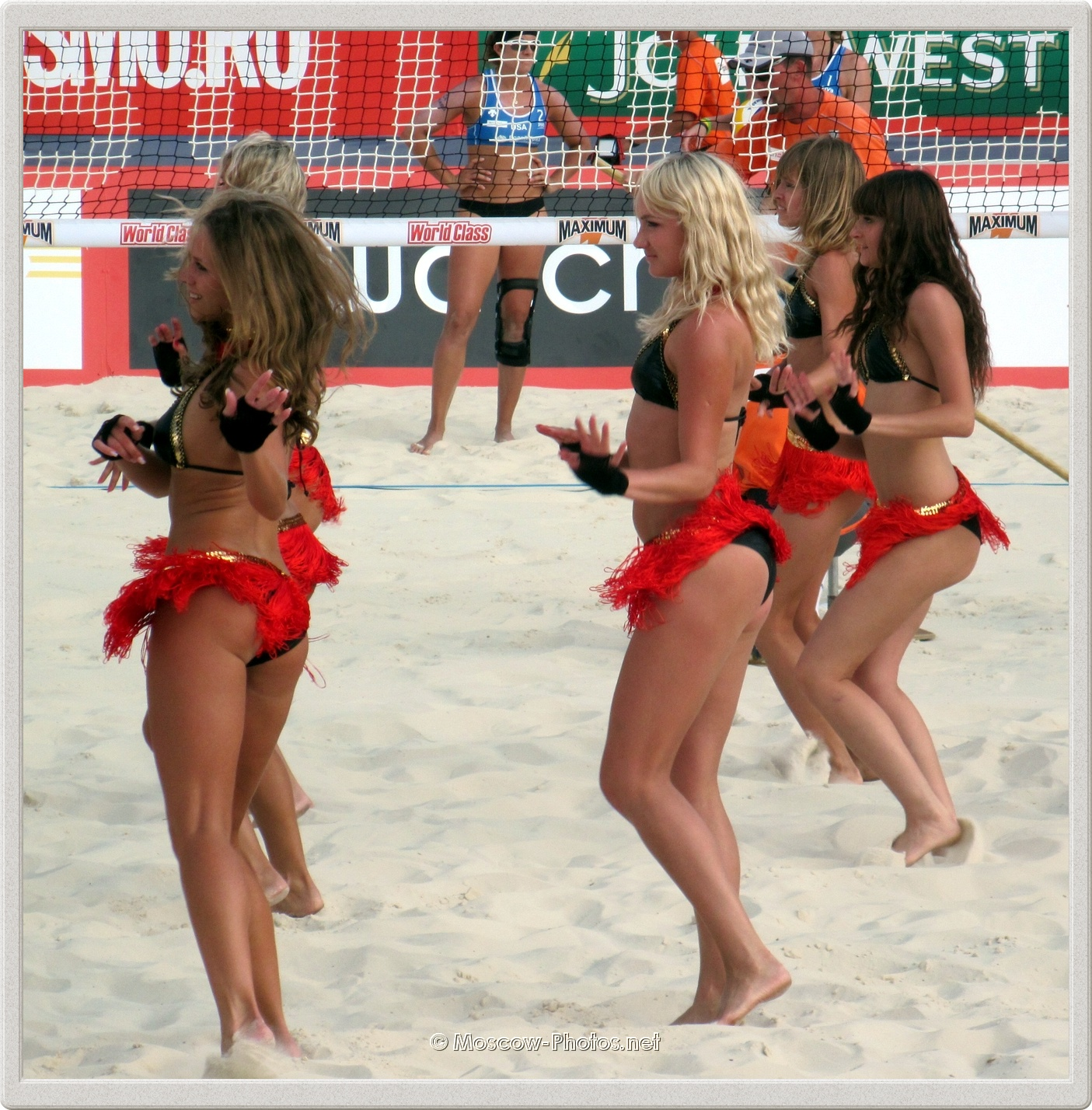 Dancing Beach Volleyball Bikini Girls