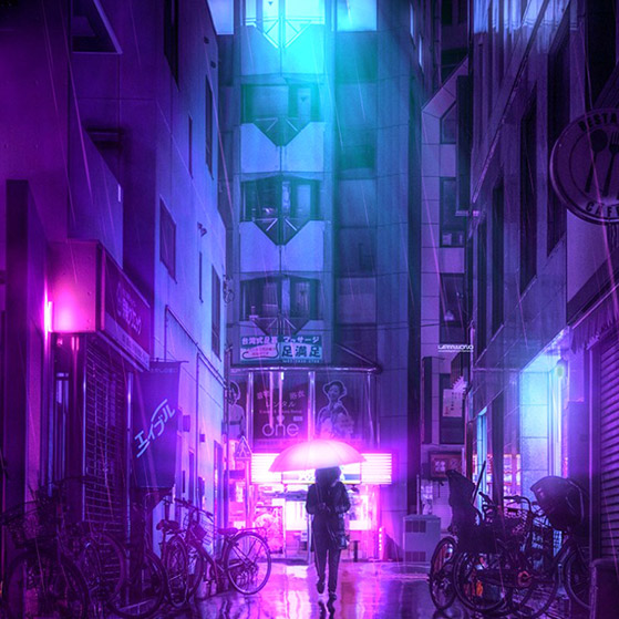Neon Purple Wallpaper Engine