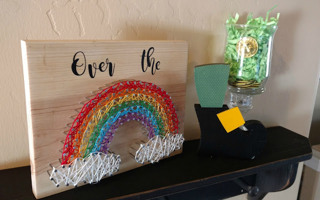 Simple rainbow string art tutorial that can be used to make any shape you want!