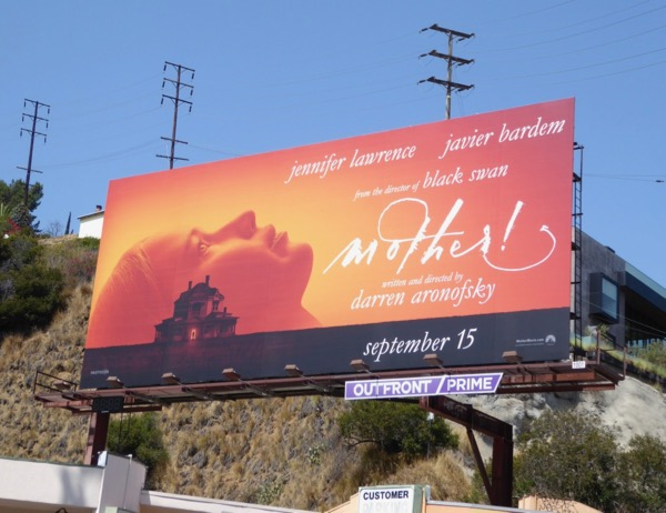Mother! movie billboard