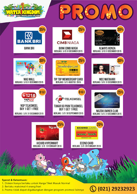Promo Water Kingdom Mekarsari Terbaru September - Oktober 2016