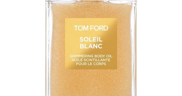 tom ford soleil blanc shimmering body oil - a brush of gold