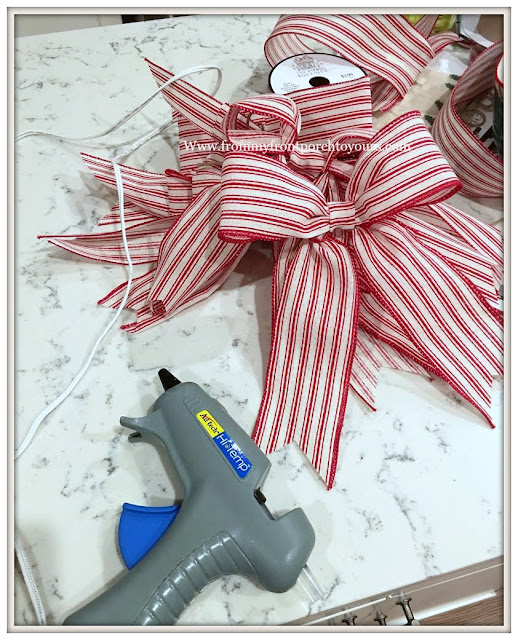 Christmas Tree-Crafting-Bows-DIY-Ornaments-From My Front Porch To Yours