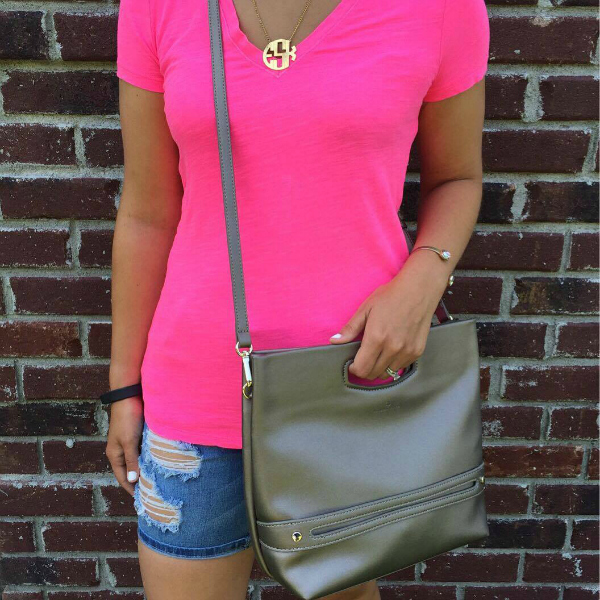 monogram necklace, poverty flats