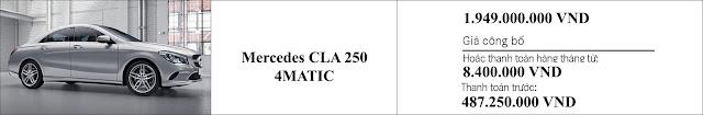 Giá xe Mercedes CLA 250 4MATIC 2019 tại Mercedes Trường Chinh