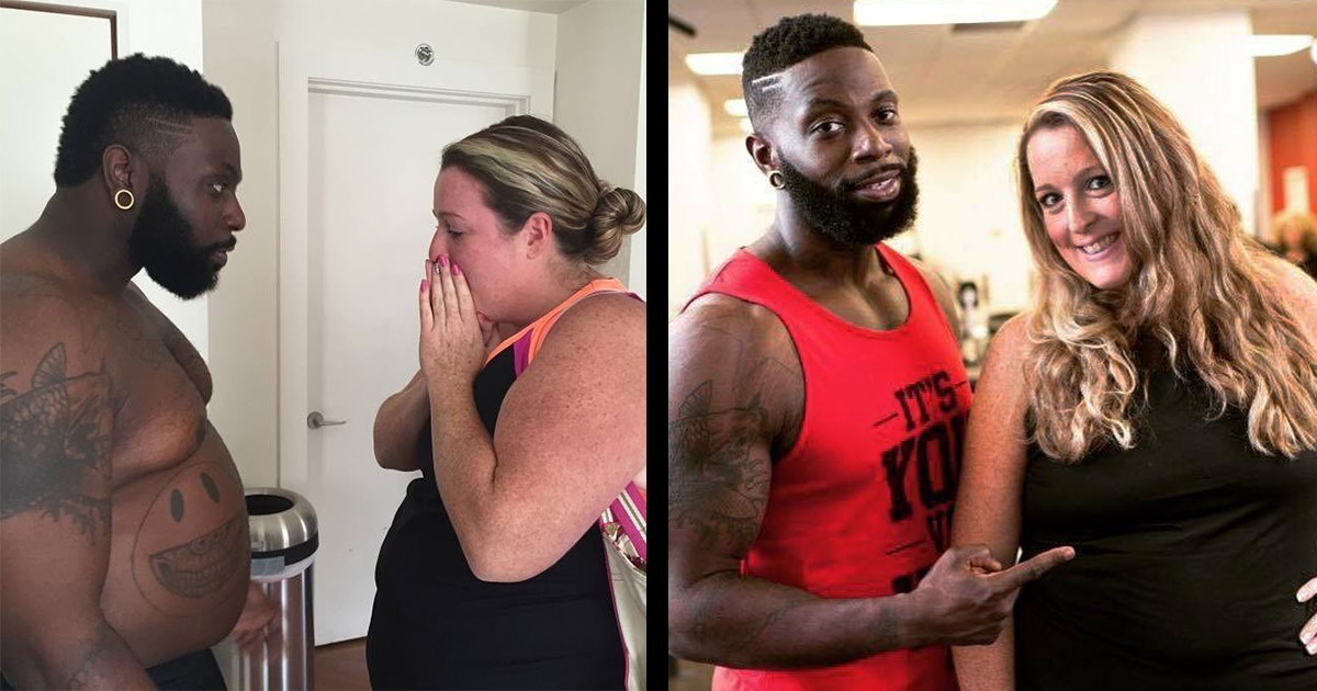 A Personal Trainer Gained 70 Pounds (32 kg) To Lose Weight Together With His Client