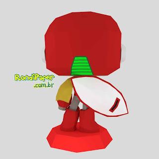 ProtonMan Megaman Papercraft PaperToy | RondiPaper
