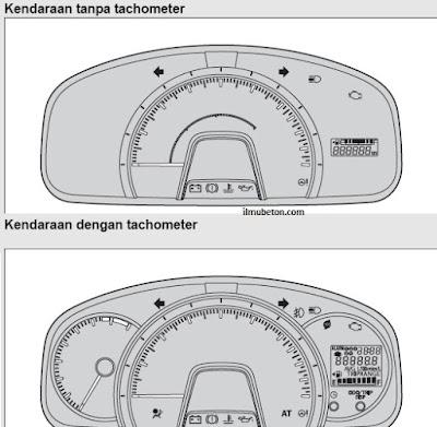 indikator lampu agya ayla dengan dan tanpa tachometer