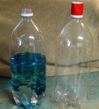 air di botol diberi pewarna