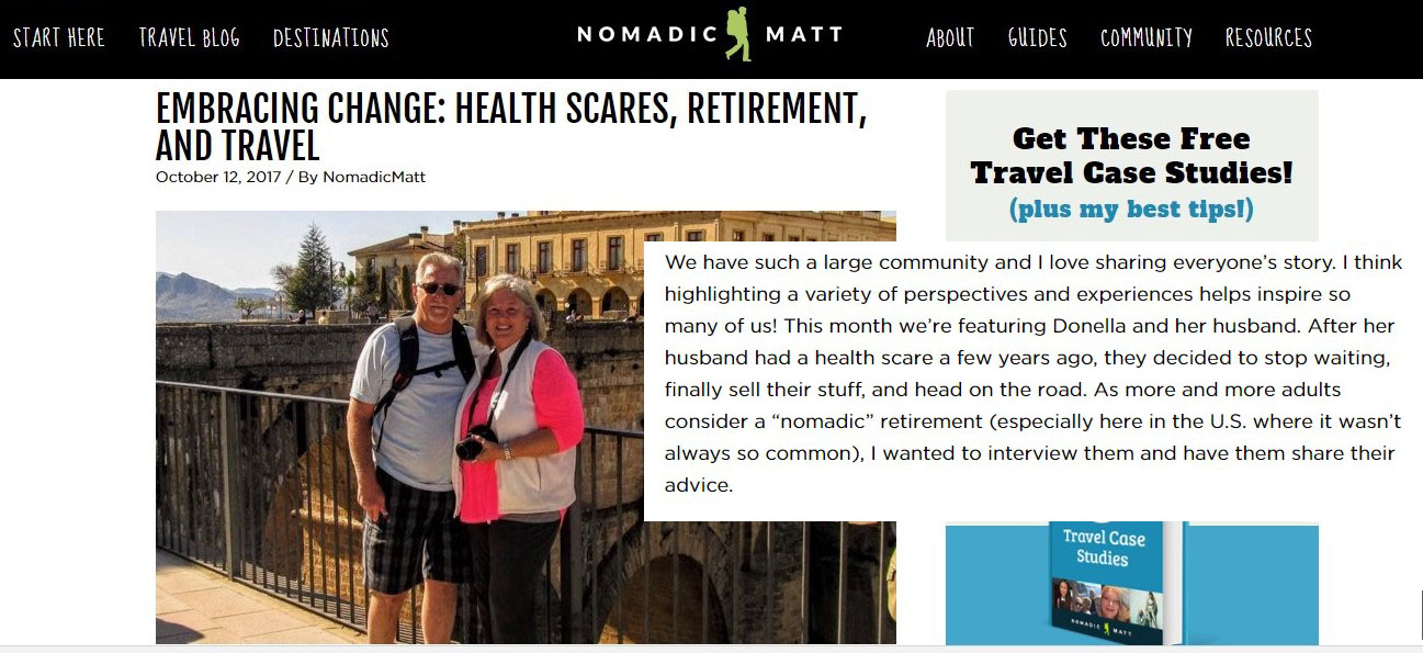 Click here to read our interview with Nomadic Matt!