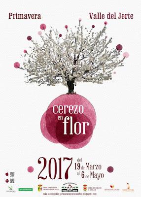 Cartel Oficial Primavera y Cerezo en Flor 2017. Valle del Jerte.