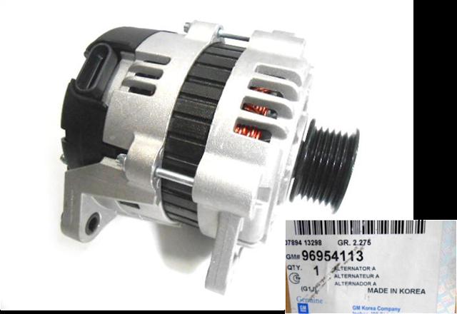 Máy phát điện xe Lacetti EX 1.6 chính hãng GM