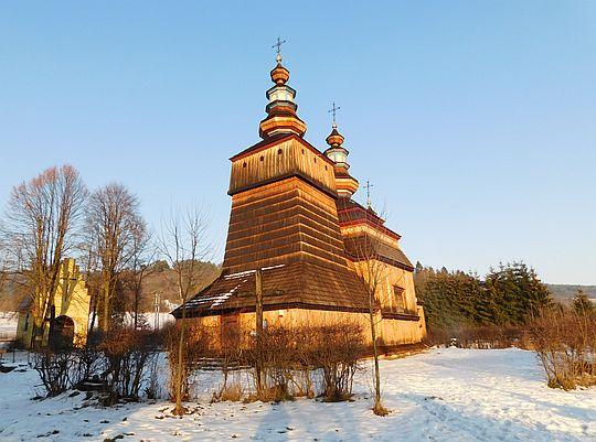 Cerkiew greckokatolicka pw. świętych Kosmy i Damiana w Krempnej.