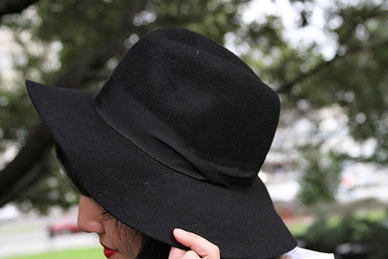 Express Black Wool Felt Hat
