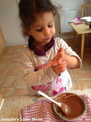 Making our own chocolate Easter Eggs
