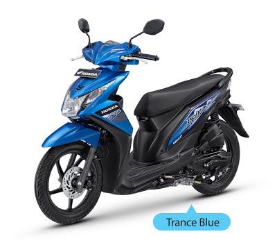 New Honda Beat Injeksi Biru