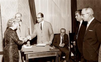 Sorteo de puestos del IX Campeonato de España Femenino 1965