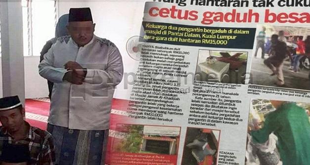 """Pengantin Lelaki Buat Laporan Polis, Tutut Ganti Rugi Perbelanjaan Kahwin - """"Saya Ditumbuk Sebab Tak Bayar Baki Wang Hantaran RM5,000"""""""