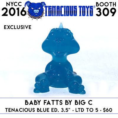 New York Comic Con 2016 Exclusive Clear Blue Baby Fatts Resin Figure by Big C.