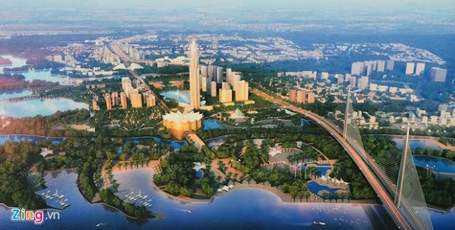 Hình ảnh thành phố thông minh trị giá 4 tỷ USD bên cạnh cầu Nhật Tân
