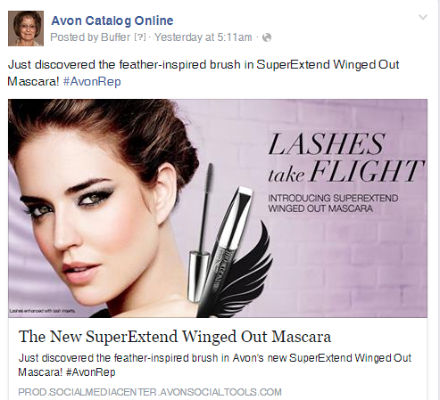 Avon SuperExtend Winged Out Mascara on Facebook