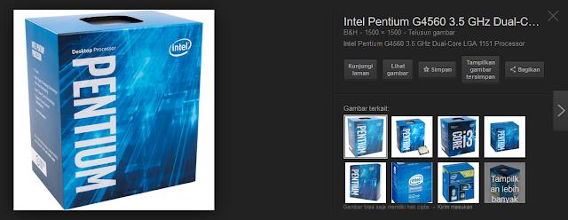 Harga Intel Pentium G4560