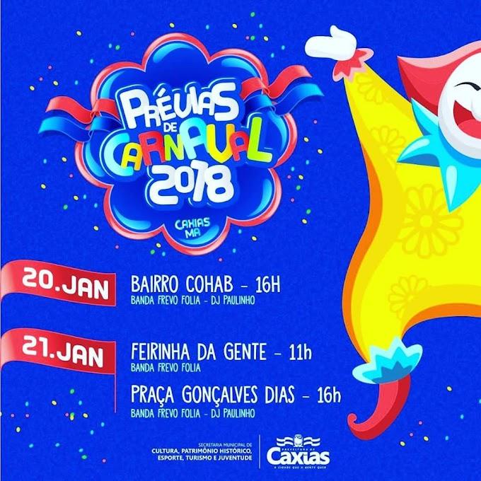 Prévias do Carnaval que a gente quer- Confira a programação para esse final de semana em Caxias