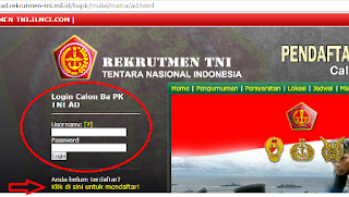 Langkah 3 Pendaftaran TNI AD AL AU