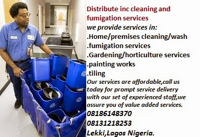 Distribute inc cleaning/fumigation and home care service.