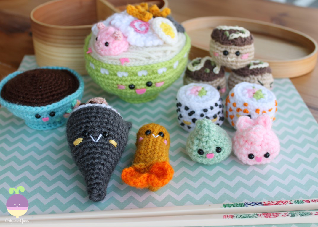 Amigurumi Food: Bento Family II Amigurumi Food Crochet Pattern