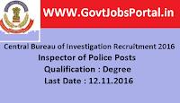 Central Bureau of Investigation Recruitment
