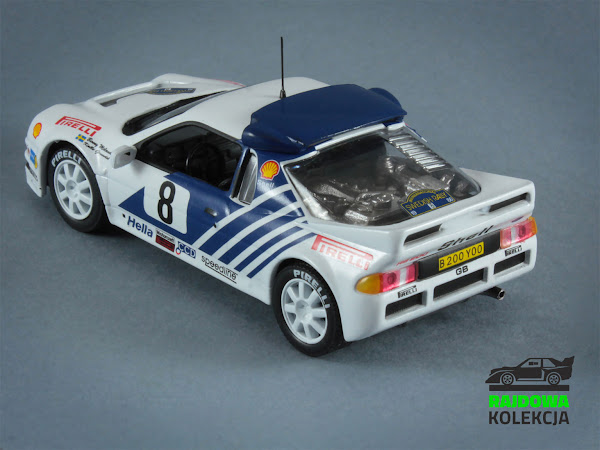 IXO Eaglemoss Ford RS200 Rally Sweden 1986