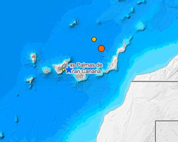 Tres terremotos Atlántico Canarias, 9  y 10 de septiembre